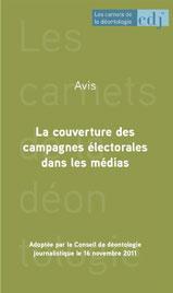 carnet avis sur la couverture des campagnes électorales dans les médias couverture