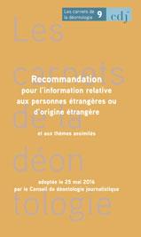 carnet n°9 L'information relative aux personnes étrangères ou d'origine étrangère et aux thèmes assimilés couverture.jpg